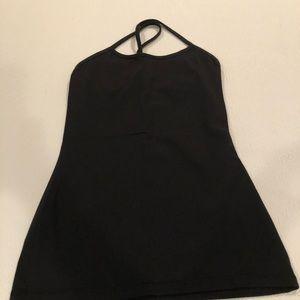 Lululemon black built in bra tank top